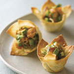 salmon-wonton