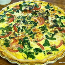 mushroomtomato-quiche