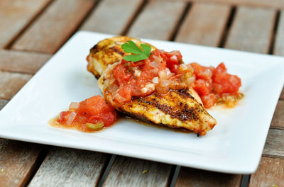Seared Chicken Breast with Tomato Chutney