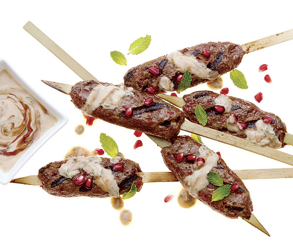 Turkish Lamb Kabobs With Pistachios And Soft Herb Salad ...