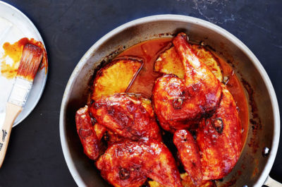 Pan Roasted Chicken with Tropical Sweet and Spicy Glaze